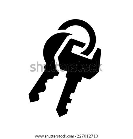 Keys Icon on White Background. Vector Illustration - stock vector