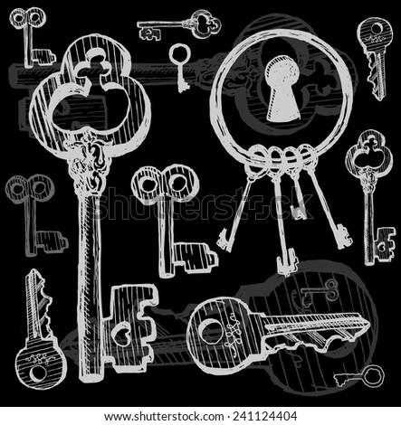 Keys Set - stock vector