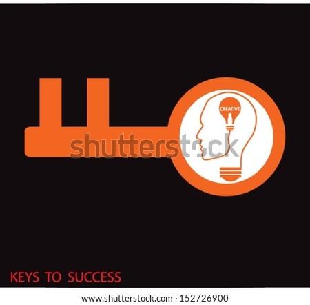 keys to success - stock vector
