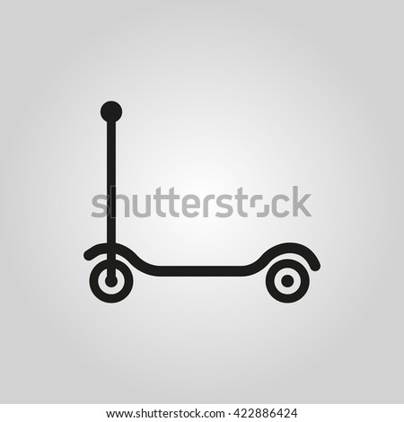 Kick scooter icon. design. Toy symbol. web. graphic. AI. app. logo. object. flat. image. sign. eps. art. picture - stock vector - stock vector