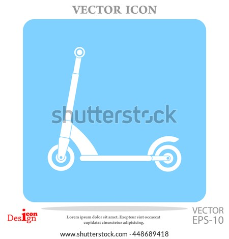 kick scooter vector icon - stock vector