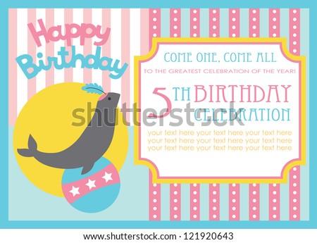 Kid birthday invitation card design vector stock vector 121920643 kid birthday invitation card design vector illustration stopboris Gallery