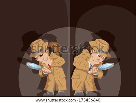 Kid Detectives - stock vector