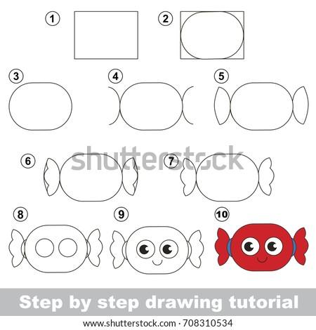 Kid Education Gaming Drawing Tutorial Preschool Stock Vector ...