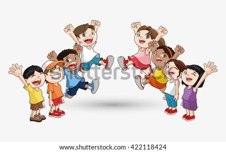Kid icon. child design. Childhood concept - stock vector