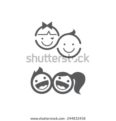 kid icon kid symbol child icon child symbol child design kid design - stock vector