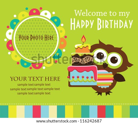 Birthday invitation stock images royalty free images vectors kid invitation card design vector illustration stopboris Gallery