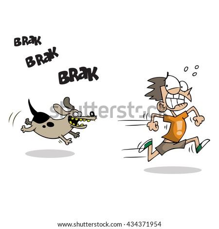 Children running away scared