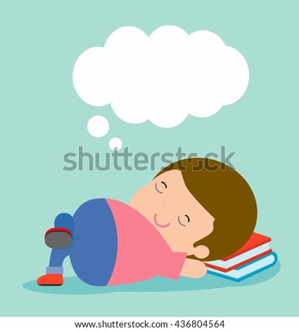 kid sleeping at home on background, children resting at home, Couch and child, Simple cartoon of kids taking nap, kids sleeping, child sleeping, people sleep, Kid's activity sleep Vector illustration  - stock vector