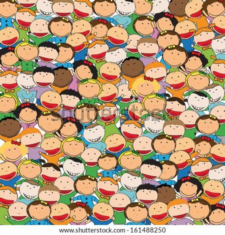 Kids background  - stock vector