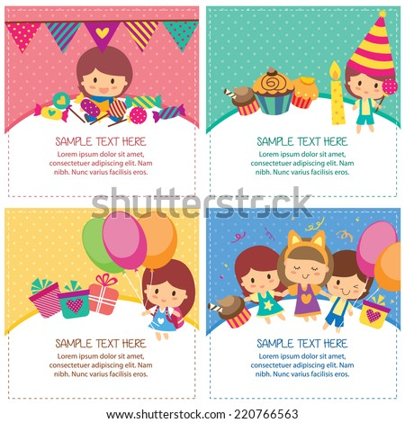 kids birthday design layout