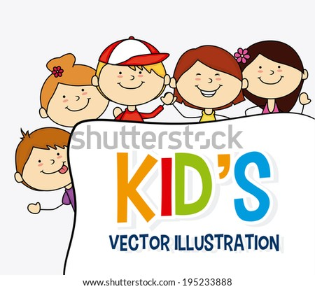 Kids design over white background,vector illustration
