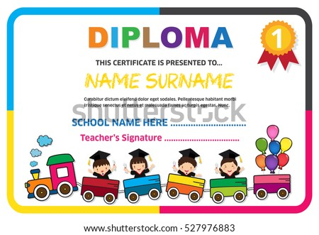 Sample certificates for kids psd cute certificate diploma graduation certificate stock images royalty free images vectors yadclub