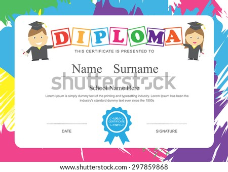 Children Certificate Stock Images, Royalty-Free Images & Vectors