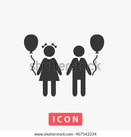 kids Icon.  - stock vector