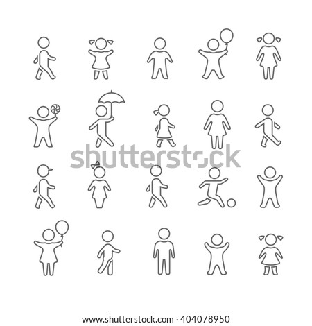 Kids icons - stock vector