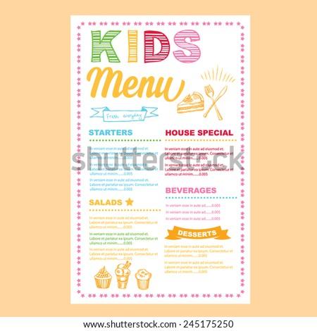 special chef menu template .