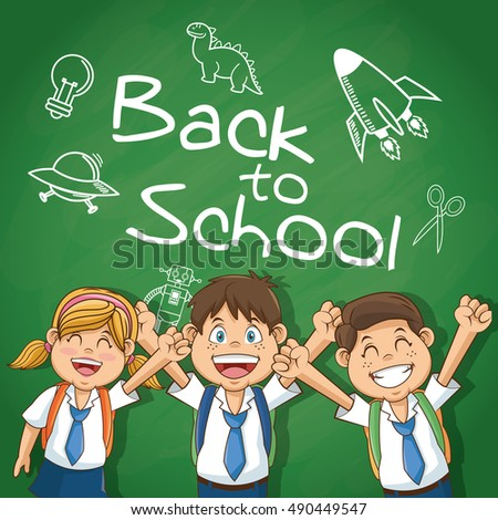 Kids of back to school design