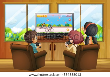 Game Room Stock Vectors Images Vector Art