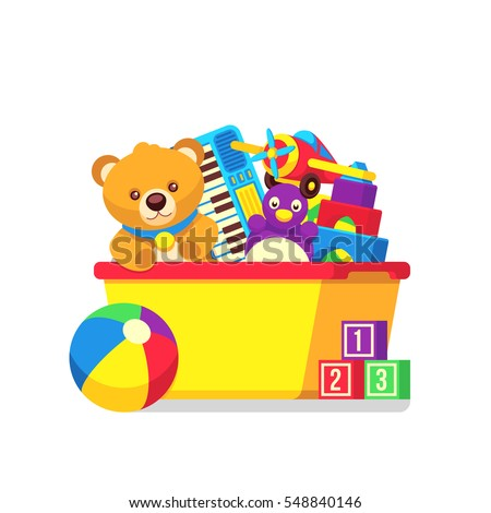 kids toys box vector clipart stock vector 2018 548840146 rh shutterstock com toys clipart black and white toys clipart transparent