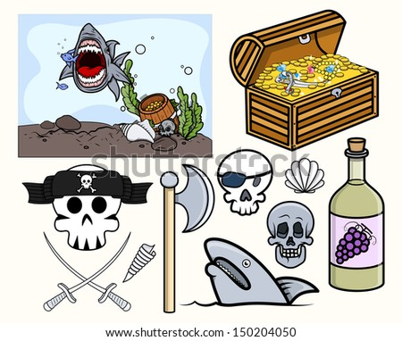 Kids Vectors - Pirate and Crew