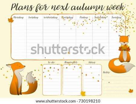 Kids weekly calendar vector stock vector 730198210 shutterstock kids weekly calendar vector maxwellsz