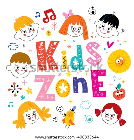 kids zone - stock vector