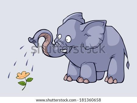 Kind elephant - stock vector