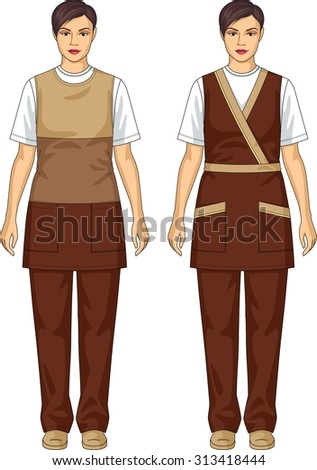 Kind of aprons with pockets for the woman