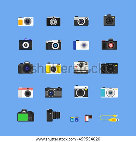 kind of camera vector icon