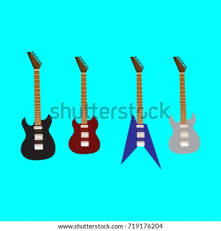kind of guitars guitar vector maroon guitar instrument is cool and very good used for illustration of music for musicians and artists...