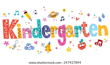 kindergarten - stock vector