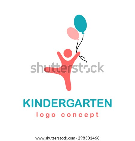 Kindergarten logo. - stock vector
