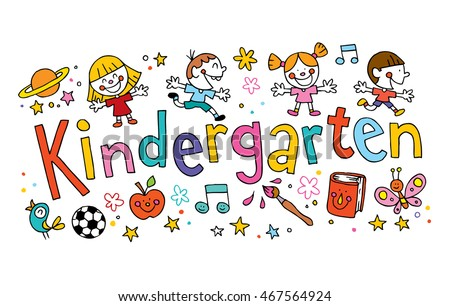 kindergarten unique hand lettering with kids
