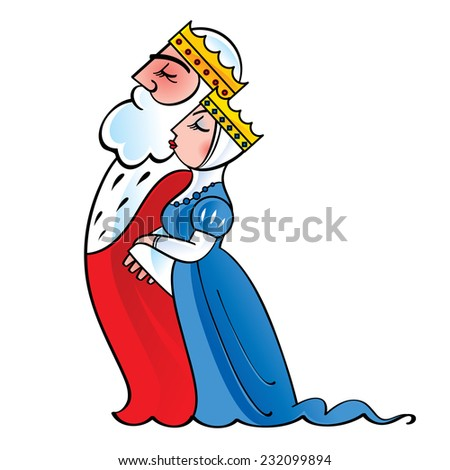 King and queen - royal, monarch, majesty, couple - stock vector
