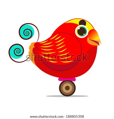King bird of paradise bird cute cartoon abstract eps 10 vector stock