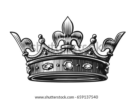 King crown vector illustration hand drawn stock photo photo vector king crown vector illustration hand drawn on white thecheapjerseys Choice Image