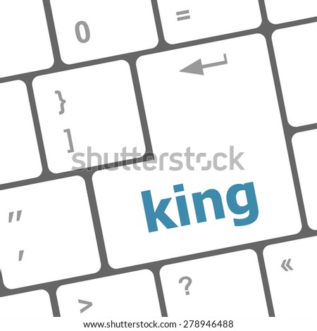 king icon on computer keyboard original illustration vector