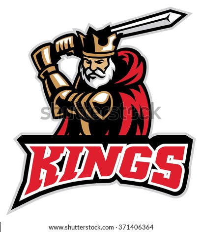 king knight mascot - stock vector