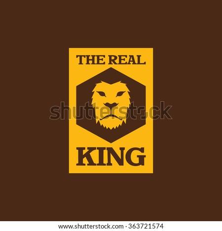 king lion head - stock vector