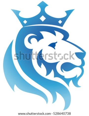 King Lion Icon. Vector Illustration.