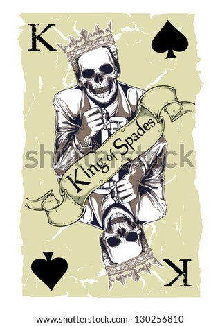 King of spades - stock vector