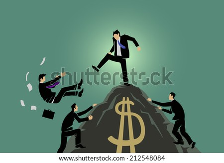 king of the hill - stock vector