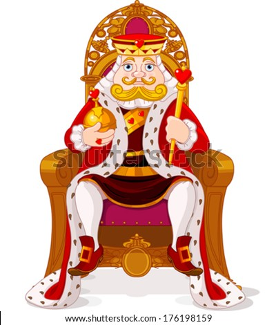 king sitting on throne stock vector 176198159 shutterstock king crown clipart png kings crown clipart free