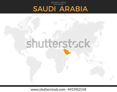 Color world map vector illustration empty vectores en stock kingdom of saudi arabia location modern detailed vector map all world countries without names gumiabroncs Images