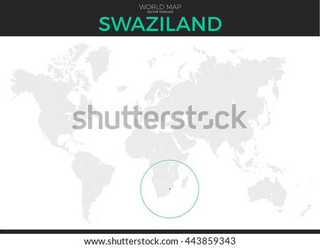 Kingdom Swaziland Location Modern Detailed Vector Stock Vector ...