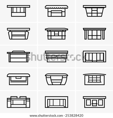 Kiosk icons - stock vector