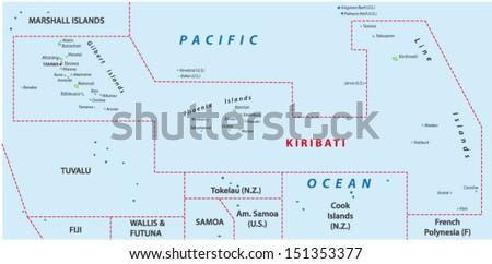 Kiribati Map Stock Images RoyaltyFree Images Vectors - Kiribati map