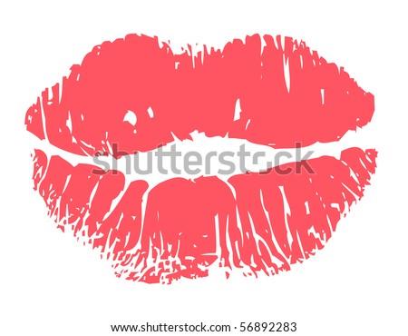Kiss lips - stock vector