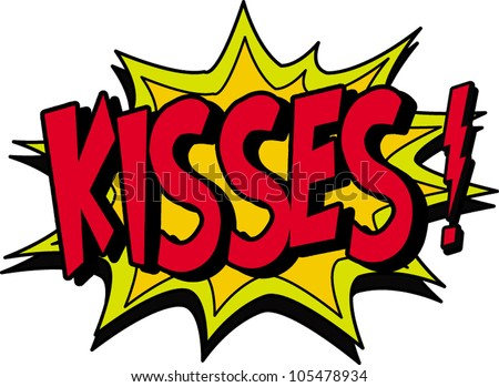 kisses - stock vector